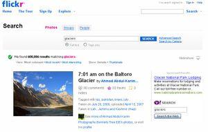Flickr glaciers serch