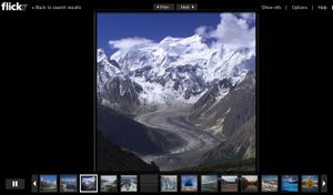 Flickr sglacier slideshow