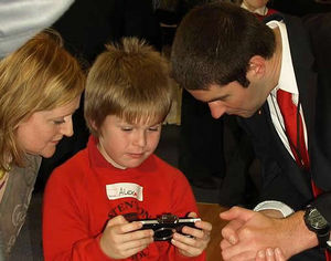 Ollie helping with PSP