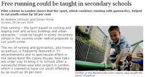Free Running in Secondary schools