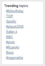 Twitter treanding topics