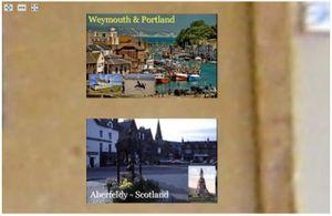 Deep zoom - postcards