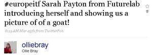 Sarah goat tweet