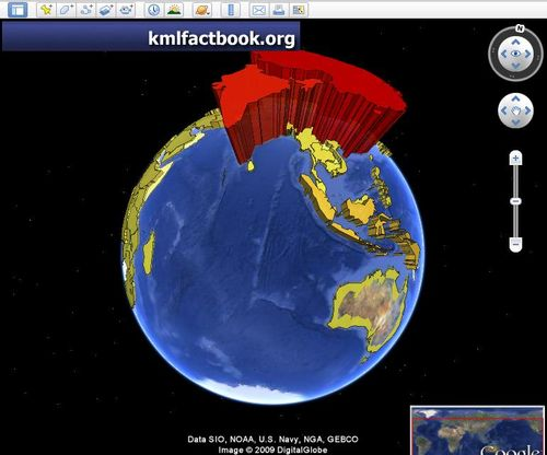 World population in Google Earth