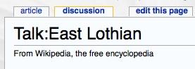 Talk East lothian