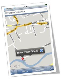 Google map iphone