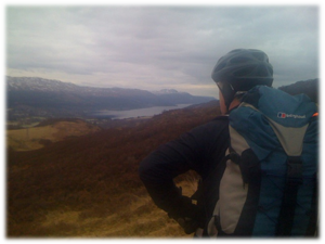 Looking down on Loch Ness