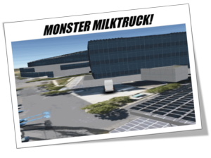Monster milk truck