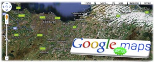 Google maps beta banner
