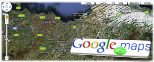 Google maps beta banner