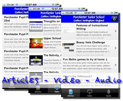 Porchester iPhone App