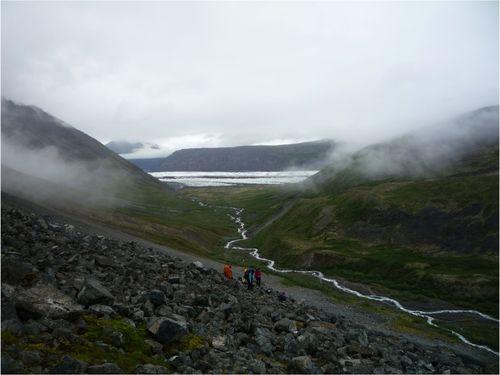 Loonging back at Long Glacier