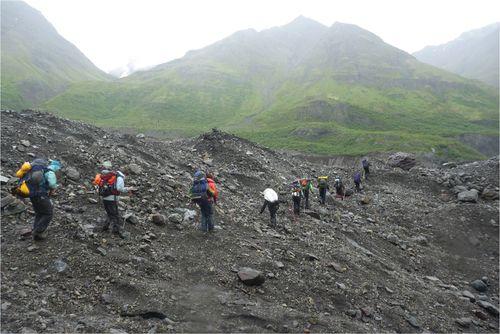 Crossing second glacier