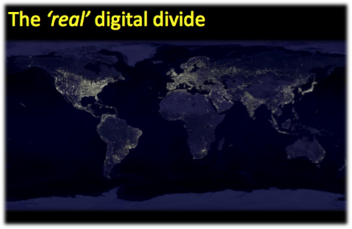 Real digital divide