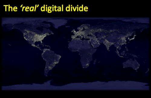 Real digital divide