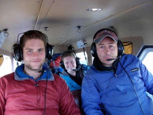 Wrangell flight in plane