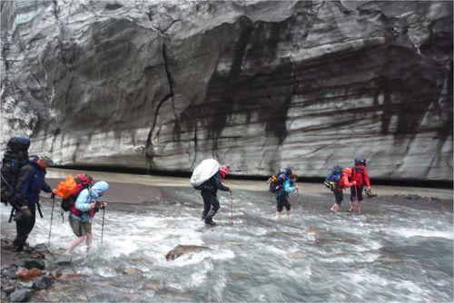 River Crossing at Long Glacier