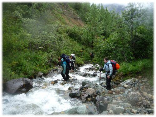 Walking down river