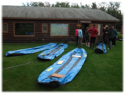 Pumping up canoes