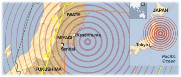 OllieBray com: Post Earthquake Images of Japan [Google Earth]
