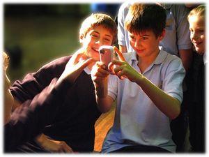 Boy with camera
