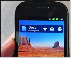 Docs on phone