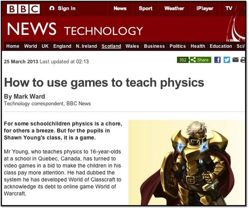 How to use games to teach physics