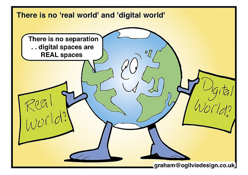 Real world vs digital world