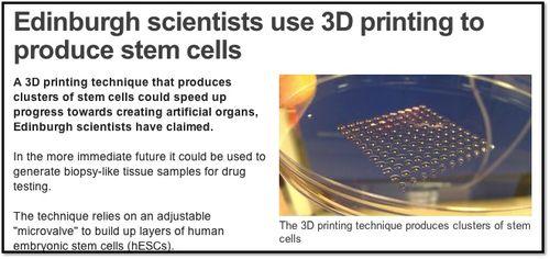 BBC 3D printing STEM Cells