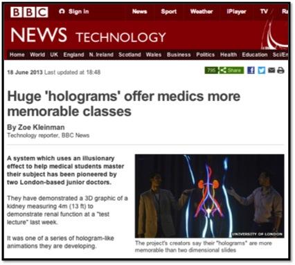 BBC Hologram