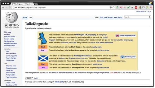 Wikipedia Talk Kingussie